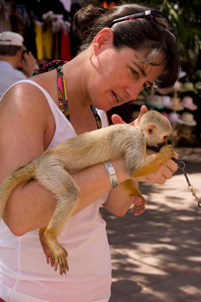 Jodi & monkey.