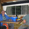 Dad and Mike enjoying the comfort of the RV with a few drinks??