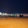 Cannes, night scene along La Croisette.