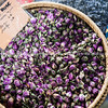 Rose buds (bouton de rose) Spices and herbs  at Antibes markets, Cote d'Azur.<br /> Marche Provencale. Cote d'Azur.