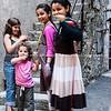 """Girls in street in """"St paul de vence, France."""
