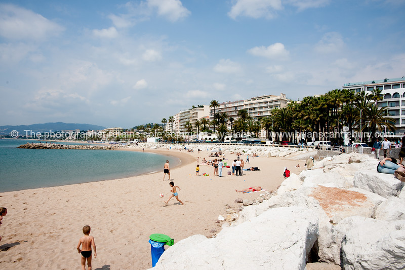 The Beach, Cannes, Cote d'Azur.