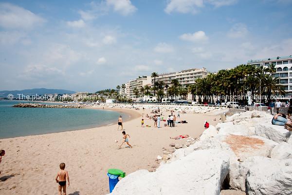 The Beach, Cannes, Cote d'Azur.