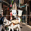 May Day, 1st May parade through the narrow streets of Antibes, Cote d'Azur, France. Model Release; NO, for personal & editorial use.
