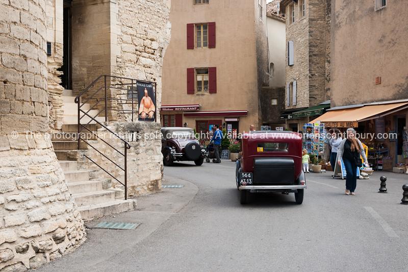Vintage car in Gordes, Cote d'Azur.