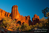 Sunset, Fisher Towers, Southeastern Utah, USA, North America