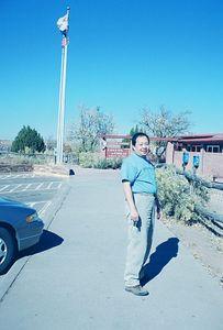 11/13/99 Gilbert at Canyon de Chelly Visitor Center.