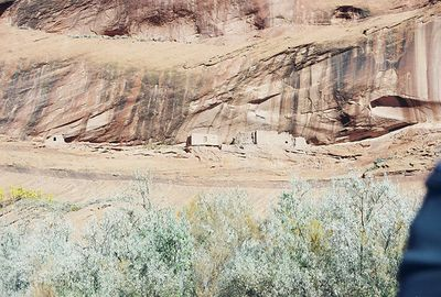 11/13/99 Anasazi Cliff Dwellings at Canyon del Muerto. Canyon de Chelly National Monument. Chinle, Apache County, AZ