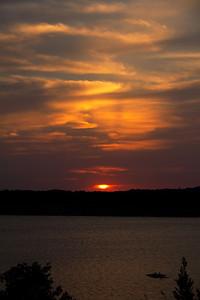 Sunset at Canyon Lake, Texas