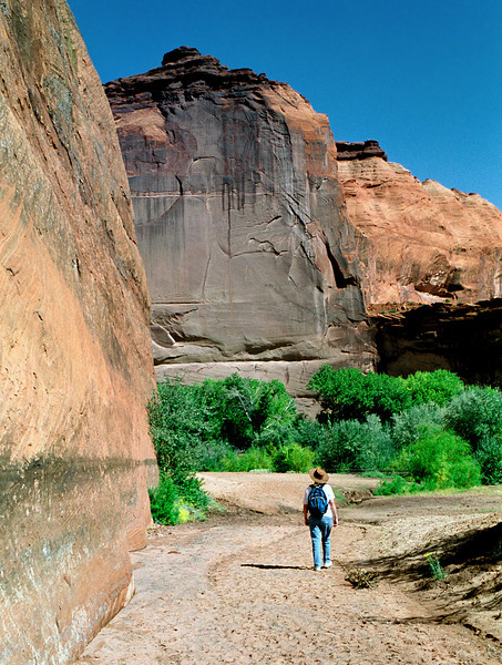 Rita, White House Ruins Trail, Canyon de Chelly, Arizona. October, 2003.