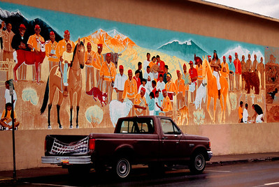 Wall painting, Gallup, New Mexico, October 2003.