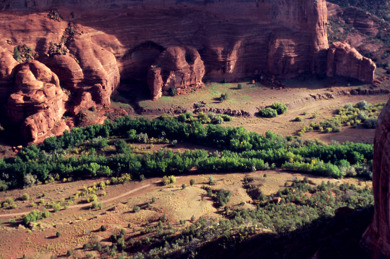 View from the rim - Canyon de Chelly, Arizona, October, 2003.