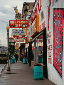 Pawn shops, Gallup, New Mexico, October, 2003.