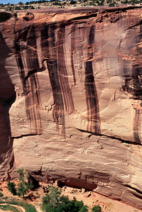 View of Antelope Ruin from rim, Canyon de Chelly, Arizona. October, 2003.
