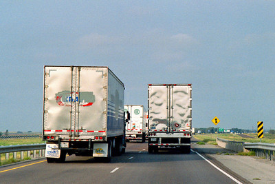Interstate highway. Oklahoma. October, 2003.