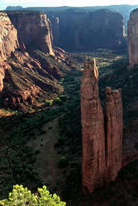 Spider Rock, viewed from the rim of Canyon de Chelly, Arizona, October, 2003.