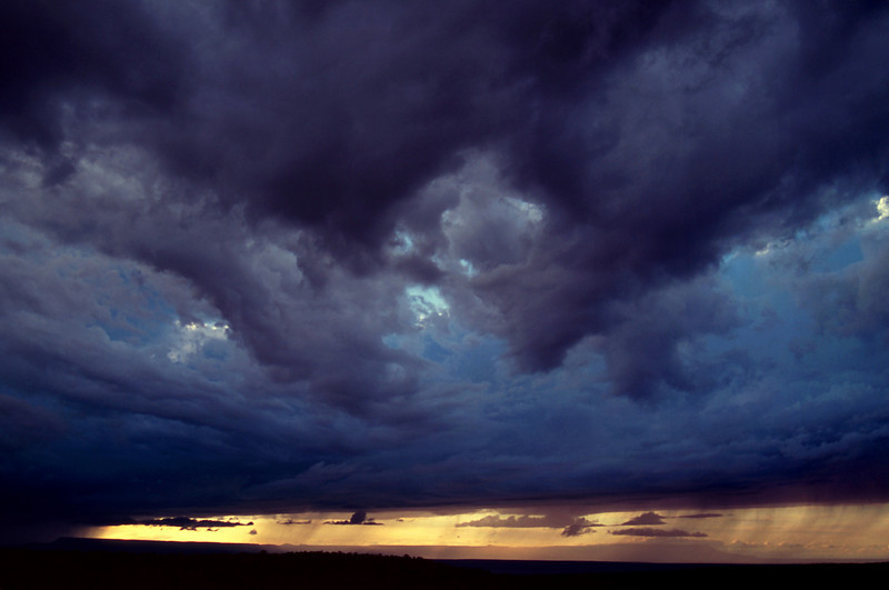 Storm clouds viewed from the rim of Canyon de Chelly, Arizona, October, 2003.