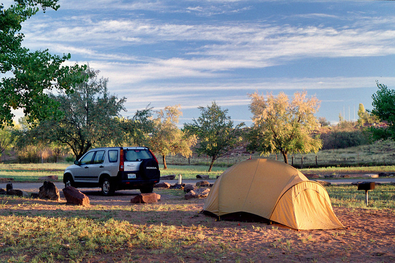Campground, Canyon de Chelly, Arizona. October, 2003.