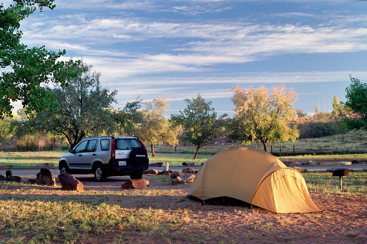 Campground, Canyon de Chelly, Arizona. October, 2003.