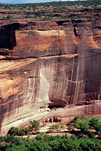 White House Ruin viewed from the rim of Canyon de Chelly, Arizona, October, 2003.