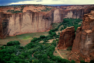Canyon de Chelly, Arizona. View from rim. October, 2003.