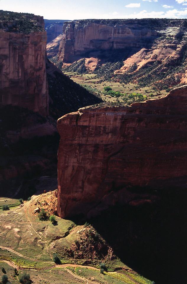 North rim, Canon del Muerto, Canyon de Chelly, Arizona. October, 2003.