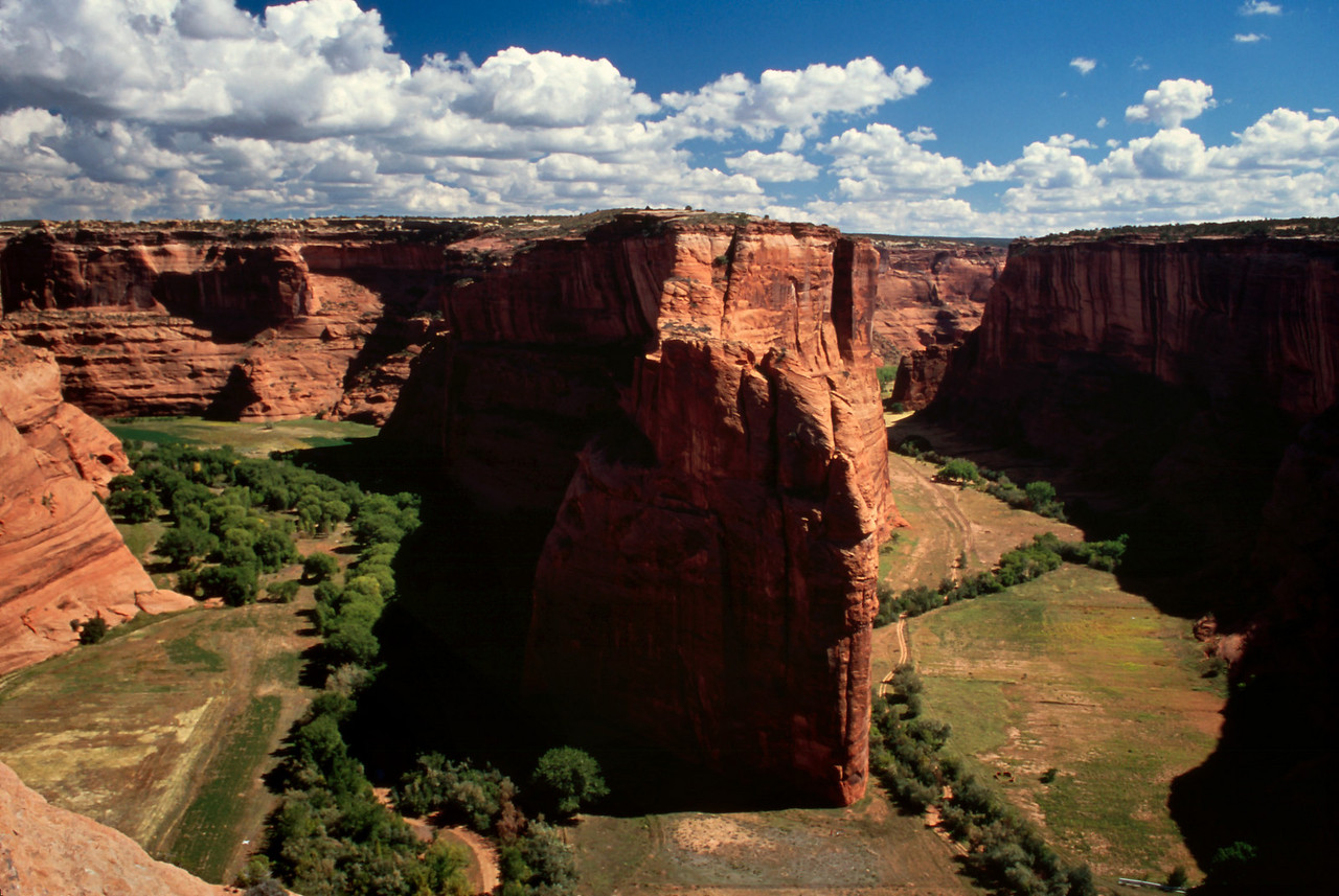 View from rim, Canyon de Chelly, Arizona. October, 2003.