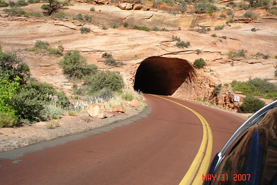 Tunnel into Zion National Park