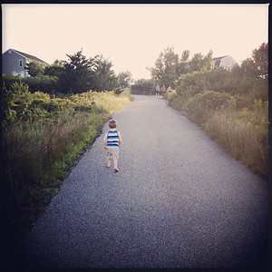 Eamon on the Driveway