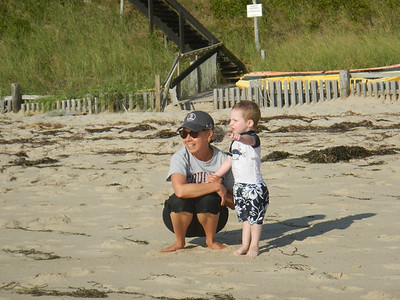 Joyce and Eamon on the Beach