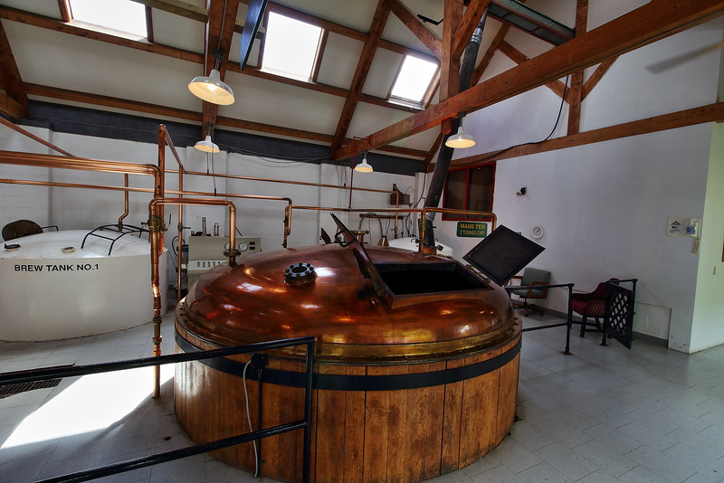 The mash house at the Glenora Distillery.