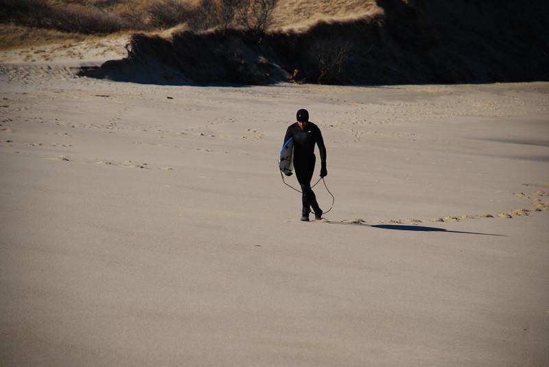 Pamet Beach Surfer 2-2-08