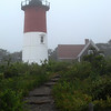 Nauset Lighthouse in Morning Fog, Cape Cod, MA