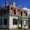 "The ""Captain Penniman House"" built in the min-19th century by a wealthy whaling ship's captain."