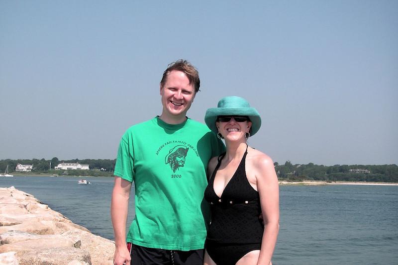 Scott & Elizabeth at Dowses Beach
