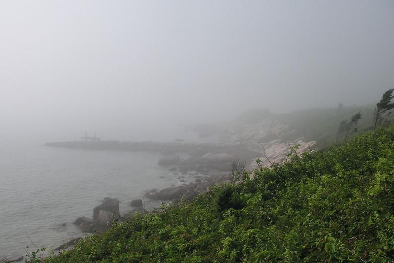 Fog rolling in near Nobska Point