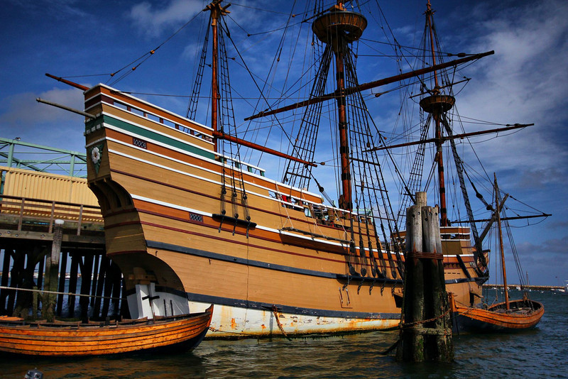 Mayflower II, a full scale replica of the original. Plymouth, Mass.