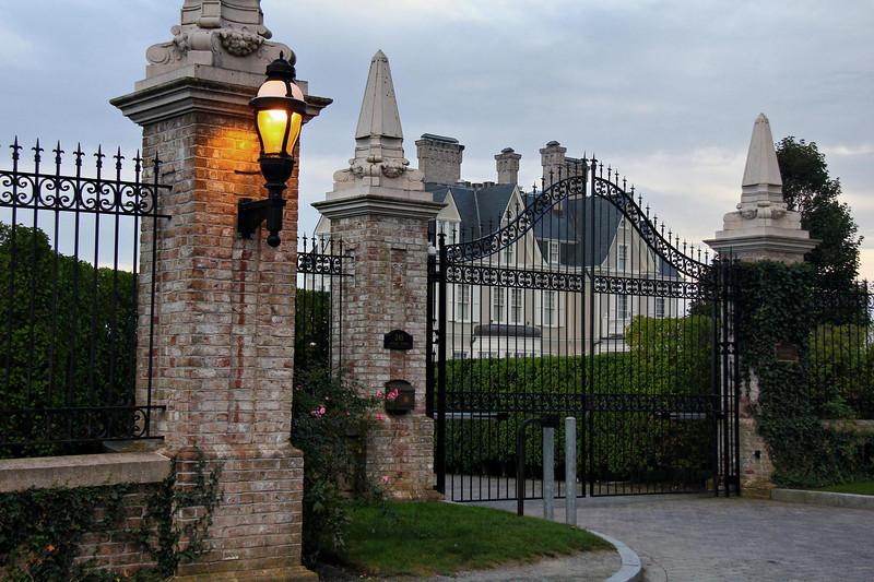 Newport, Rhode Island mansion at the southern trailhead of the Cliff Walk.