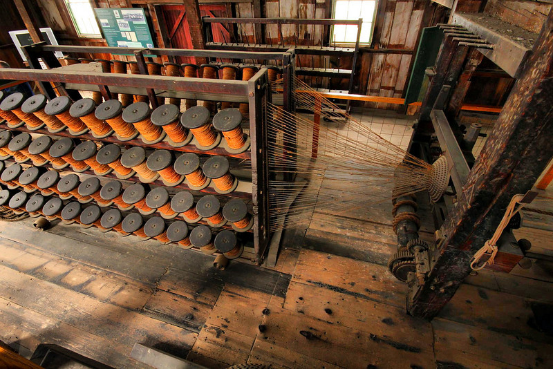 Mystic Seaport. This very machine was used 200 years ago to make ropes for securing and handling handle large sailing ships.