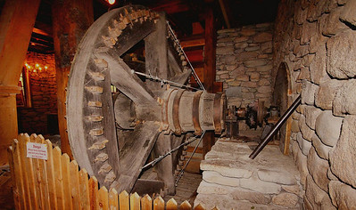 Gear assembly of the Jenney Grist Mill.