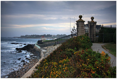 Newport, Rhode Island. This is the Cliff Walk behind the mansions on the eastern edge of town.