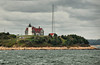 Nobska Lighthouse at Woods Hole, Mass., taken from the Martha's Vineyard ferry.
