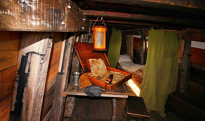 The chart room of the Mayflower II.