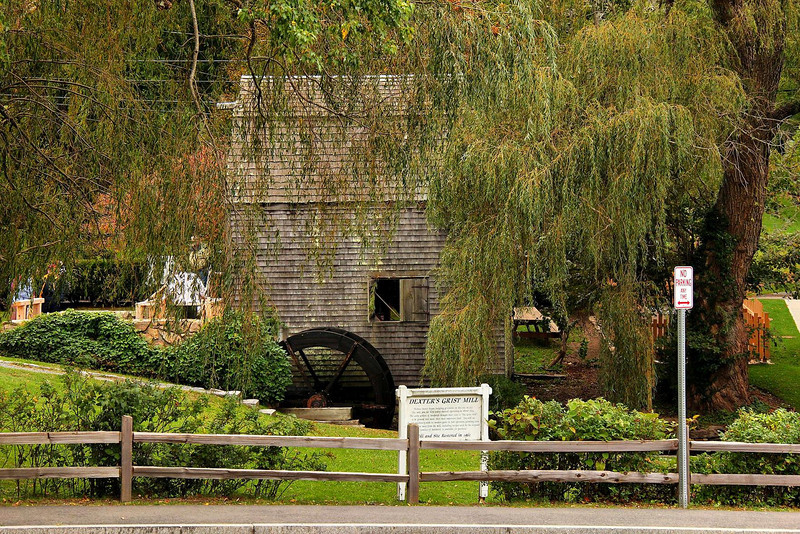 Oldest operating Grist Mill in Sandwich, Mass. They claim it is the oldest in the U.S., but the one just up the road in Plymouth, Mass. has the same claim.