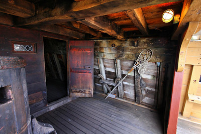 Mayflower II second deck, where it starts to open up to the outside.