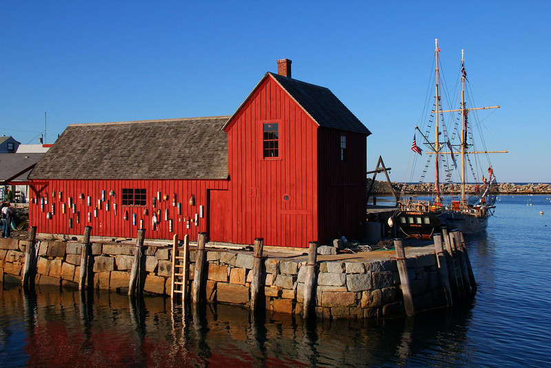 This building on Bradley Wharf  is called Motif #2. The first building was destroyed by weather. Taken before sunset with camera facing the Atlantic.