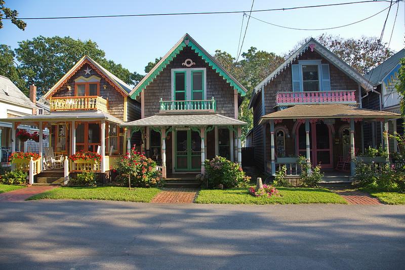 842 Gingerbread cottages in Oak Bluffs on Martha's Vineyard.