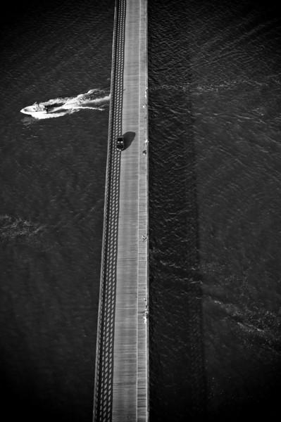Bridge to beach, July.