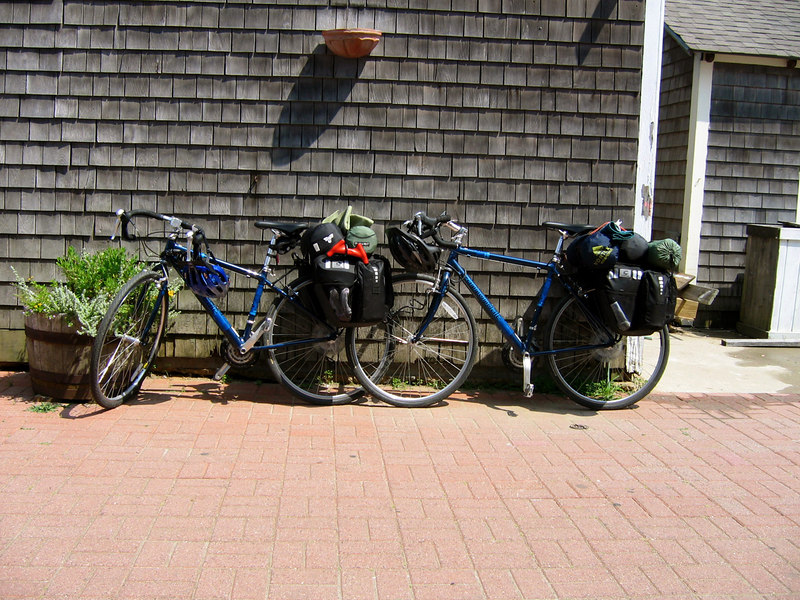 Our bikes, loaded up waiting for a Ferry from Martha's Vineyard