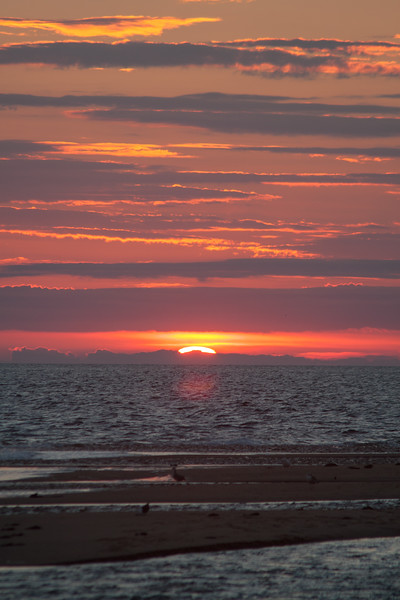 The sun disappears at Race Point Beach, Provincetown MA.